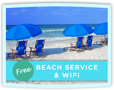 FREE Beach Service and WiFi Internet